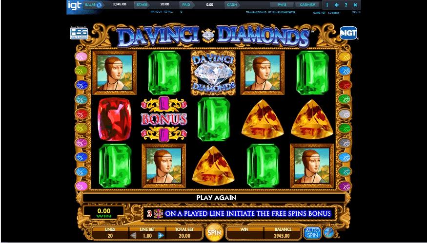 DaVinci Diamonds slot play free