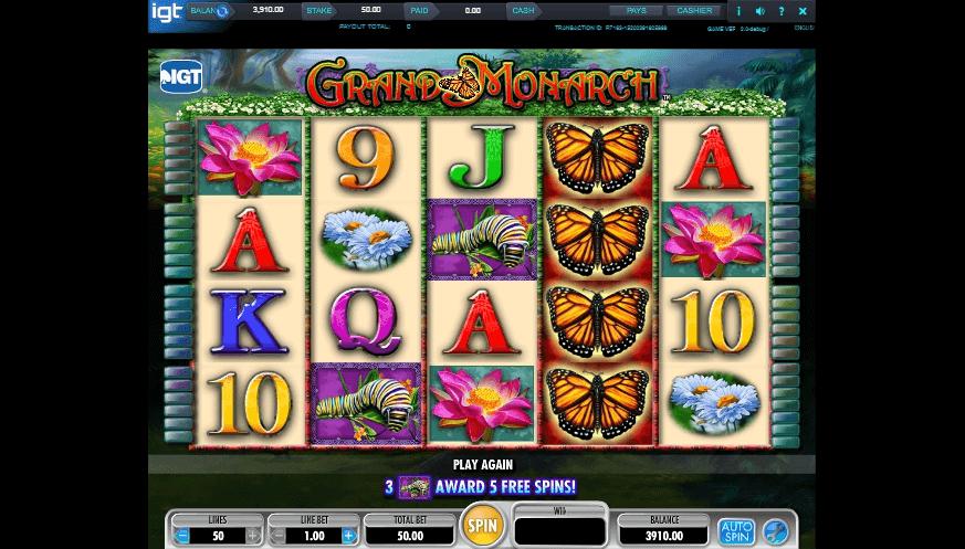 Grand Monarch slot machine screenshot