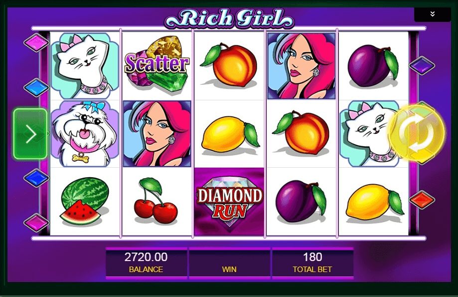 Shes a Rich Girl slot machine screenshot