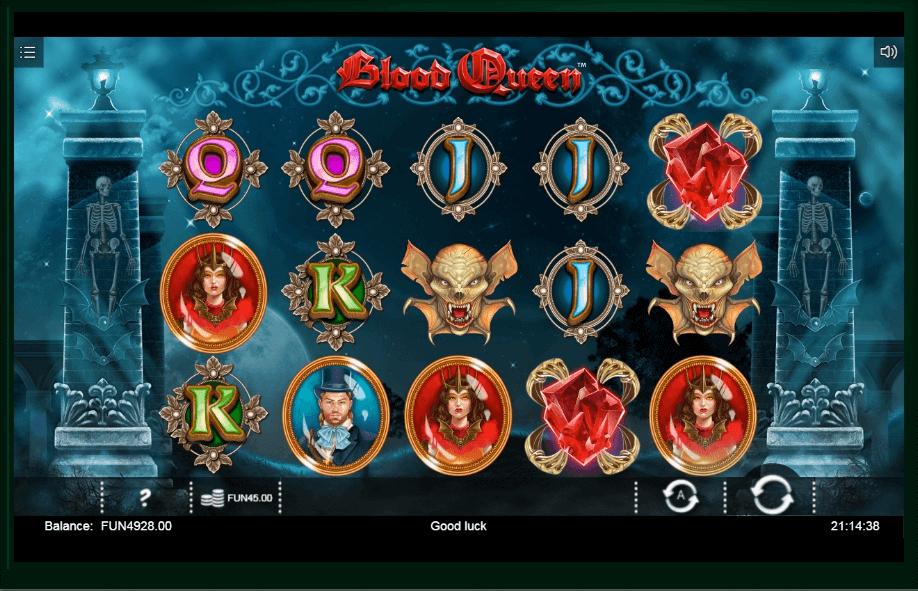 Blood Queen slot machine screenshot