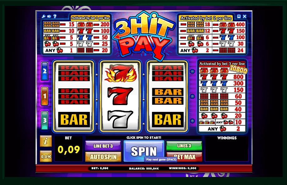 3 Hit Pay slot machine screenshot
