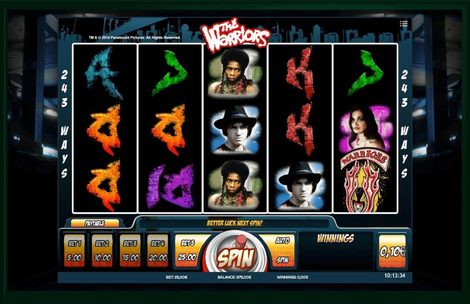 The Warriors slot play free