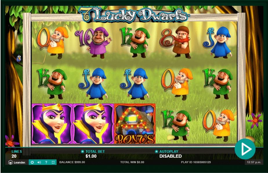 7 Lucky Dwarfs slot machine screenshot