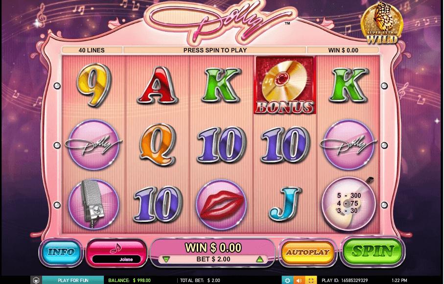 Dolly Parton slot machine screenshot