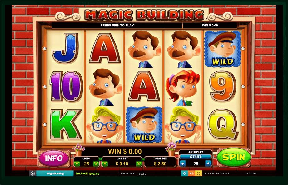 Magic Building slot machine screenshot