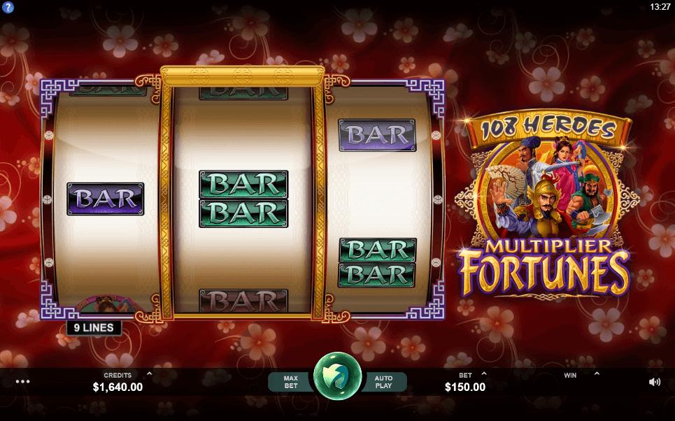 108 Heroes Multiplier Fortunes slot play free