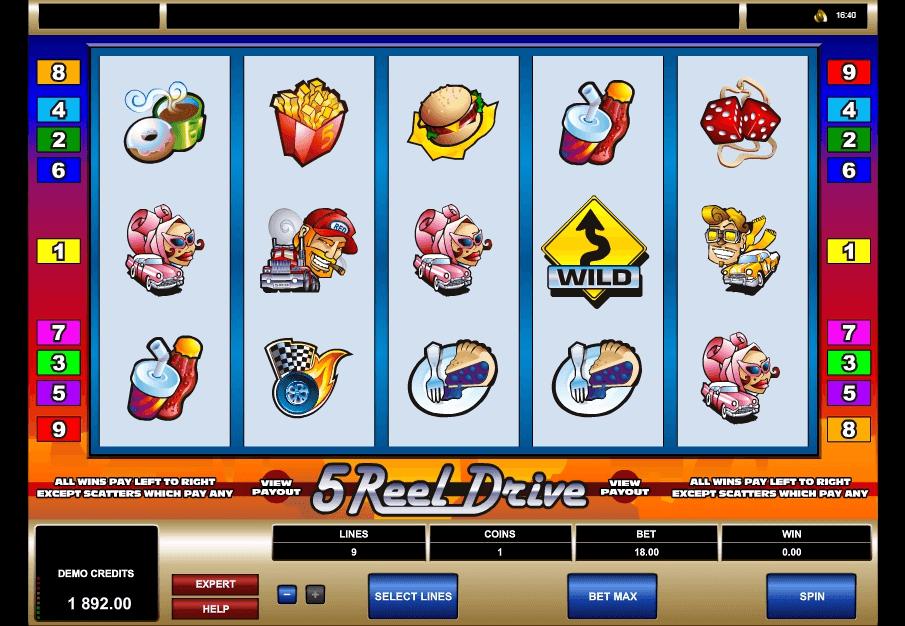 5 Reel Drive slot machine screenshot