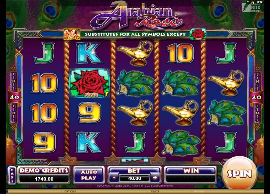 Arabian Rose slot machine screenshot