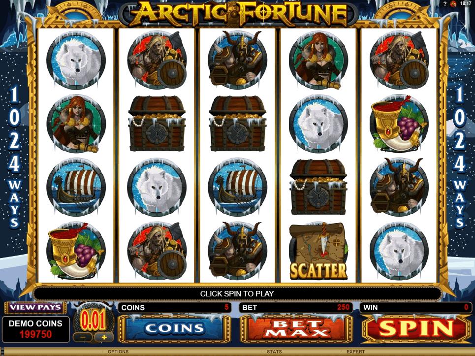 Arctic Fortune slot machine screenshot