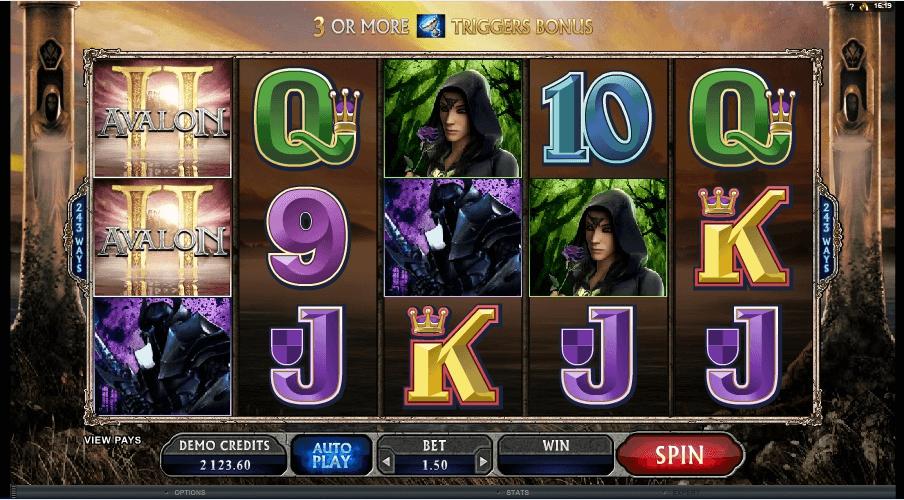 Avalon II slot machine screenshot