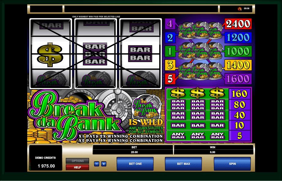 Break da Bank slot machine screenshot