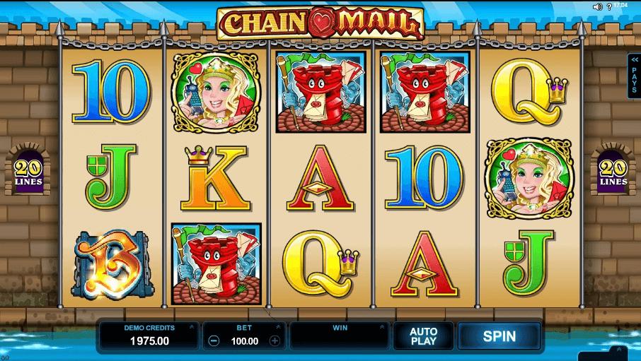 Chain Mail slot machine screenshot