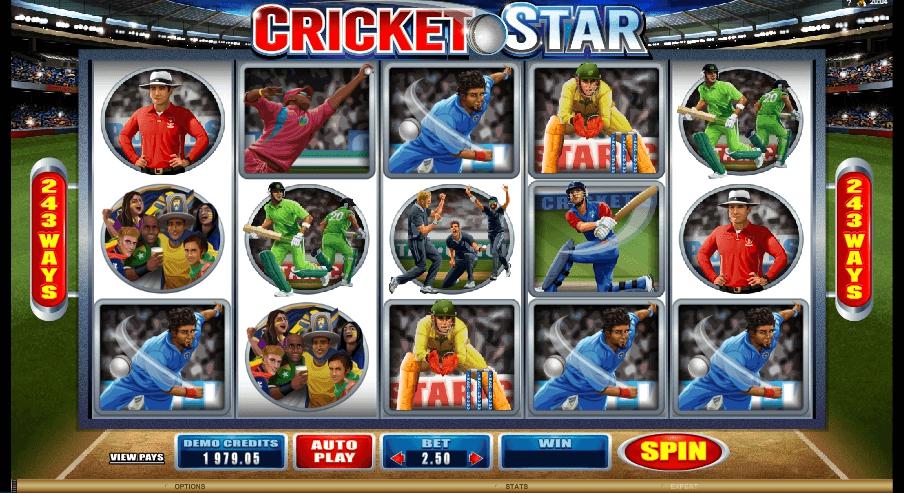 Cricket Star slot machine screenshot