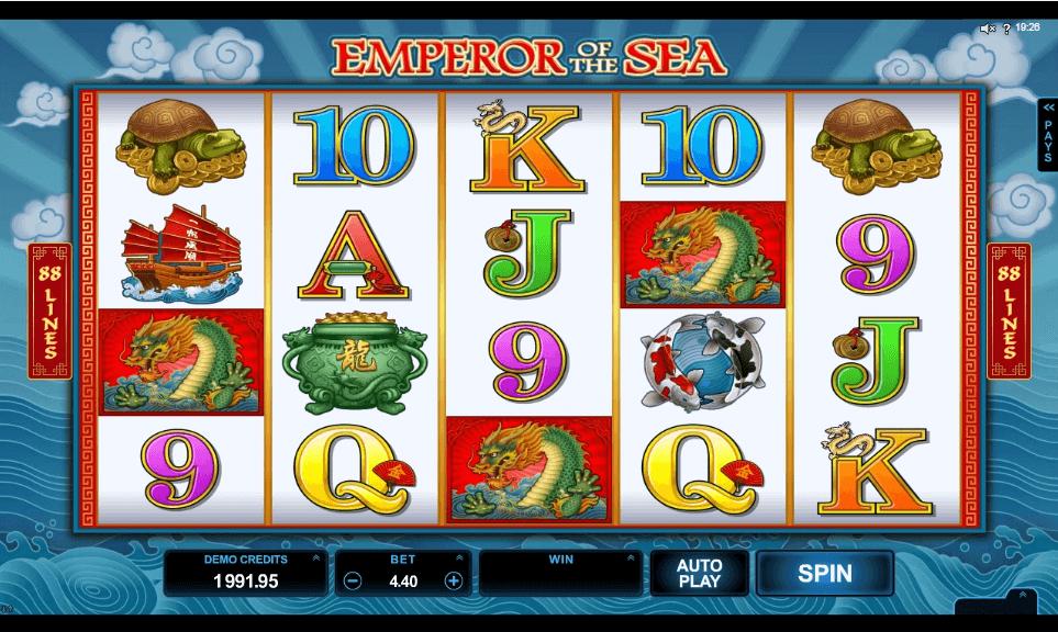 Emperor of the Sea slot machine screenshot