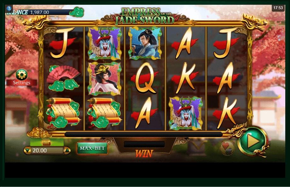 Empress of the Jade Sword slot machine screenshot