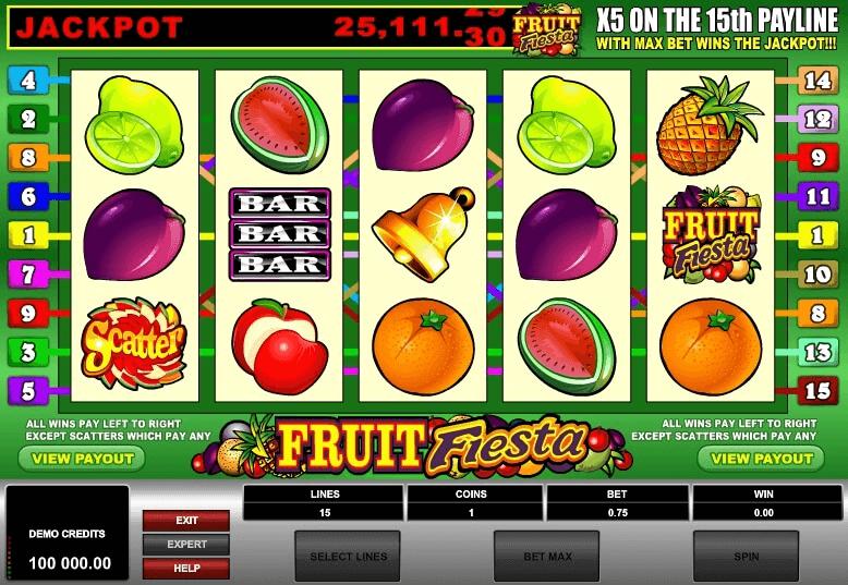 Fruit Fiesta slot machine screenshot