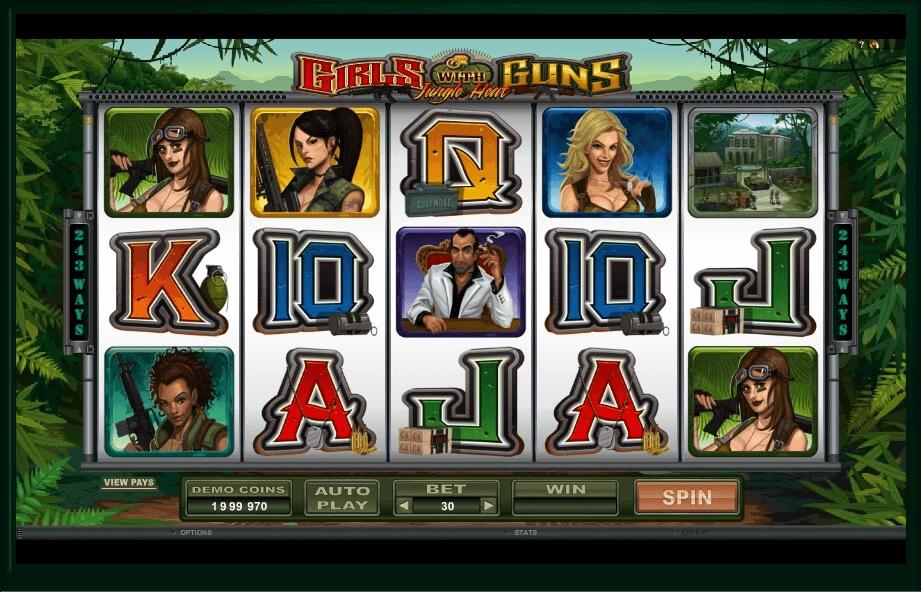 Girls With Guns slot machine screenshot
