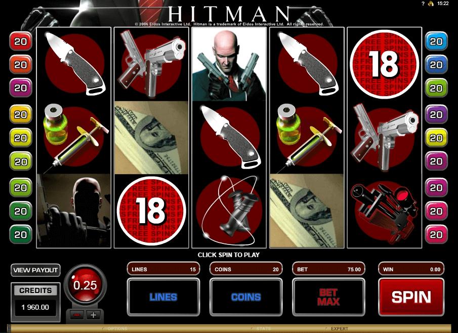 Hitman slot machine screenshot