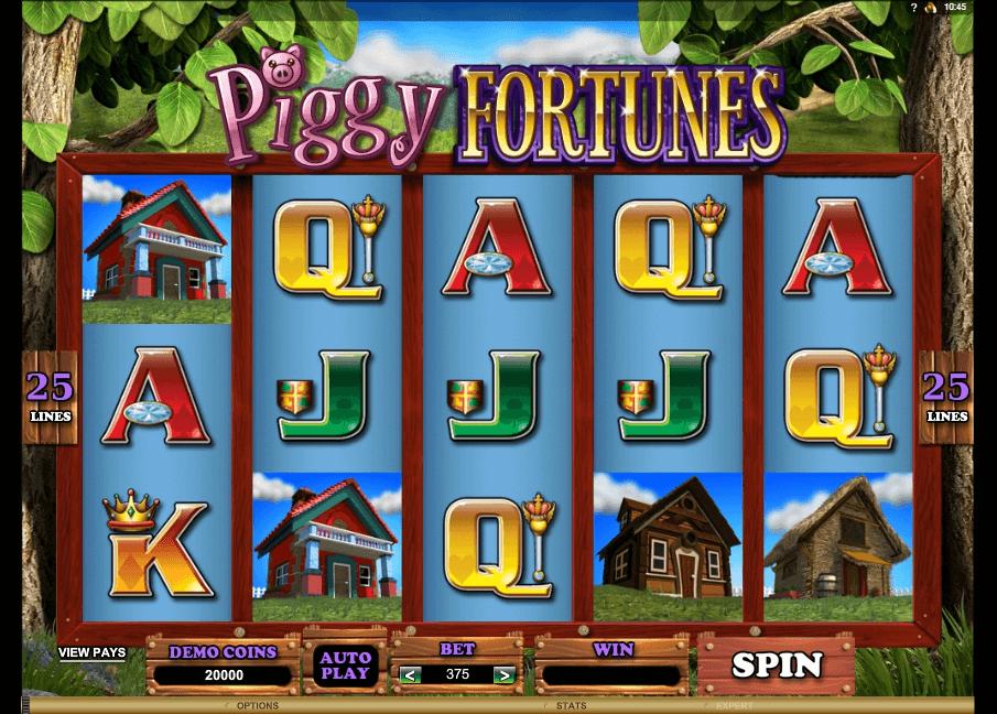 Piggy Fortunes slot machine screenshot