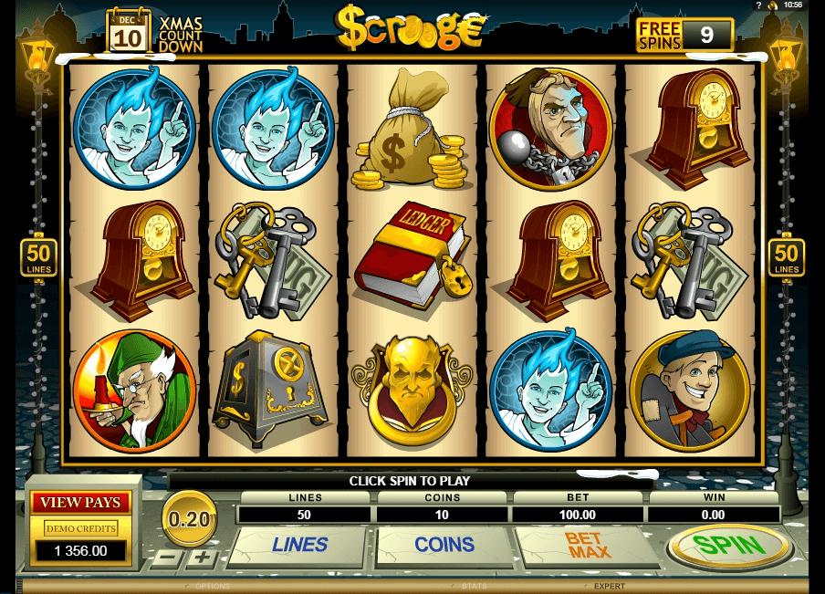 Scrooge slot machine screenshot