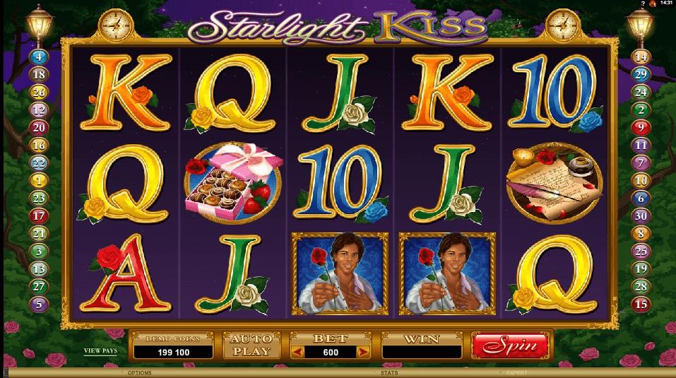 Starlight Kiss slot machine screenshot