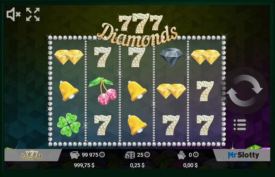 777 Diamonds slot machine screenshot