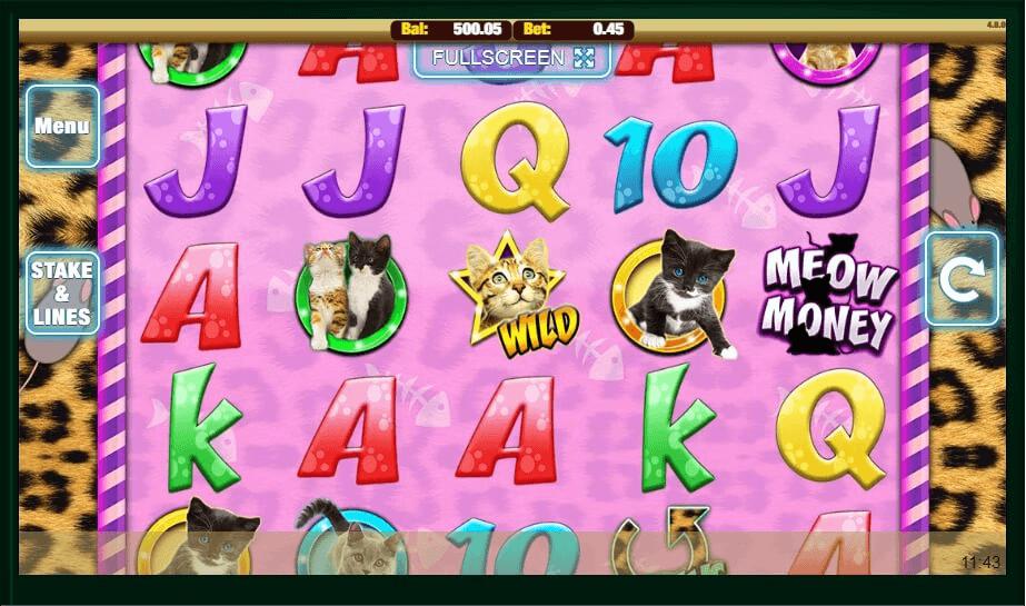Meow Money slot machine screenshot