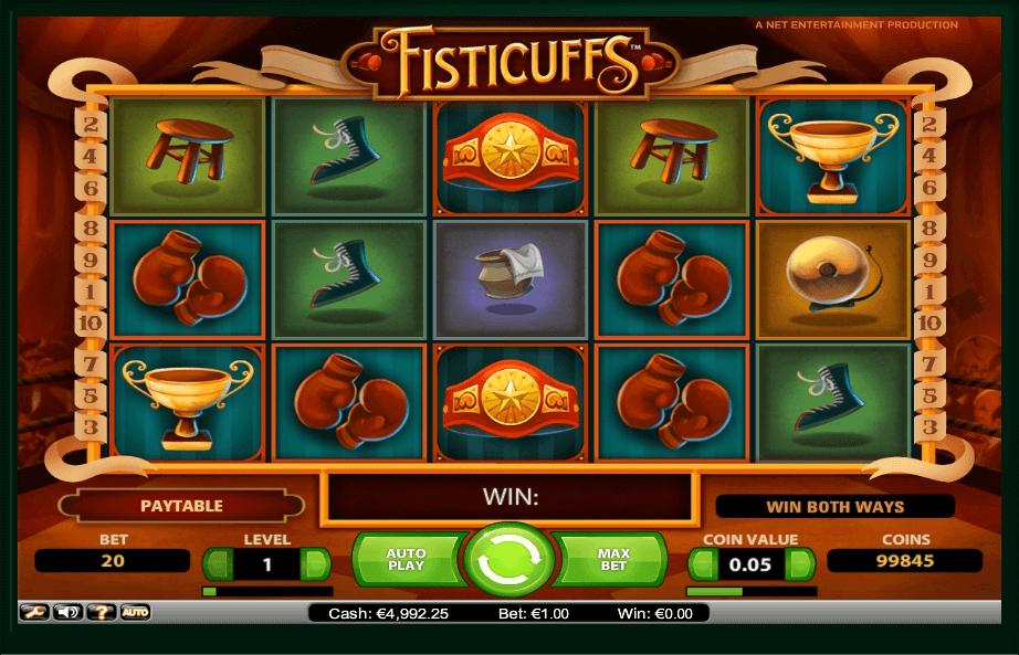 Fisticuffs slot machine screenshot