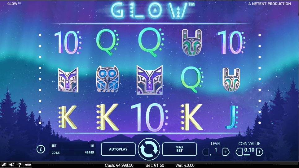 GLOW slot machine screenshot