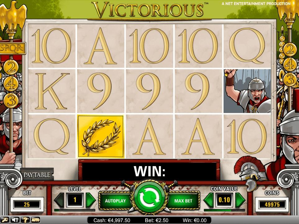 Victorious slot machine screenshot