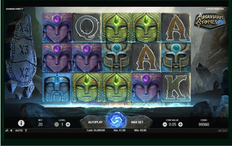 Asgardian Stones slot machine screenshot