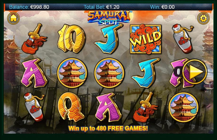 Samurai Split slot machine screenshot