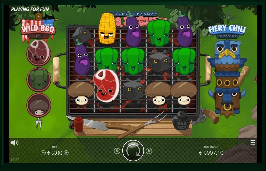 Kitchen Drama: BBQ FRENZY slot machine screenshot