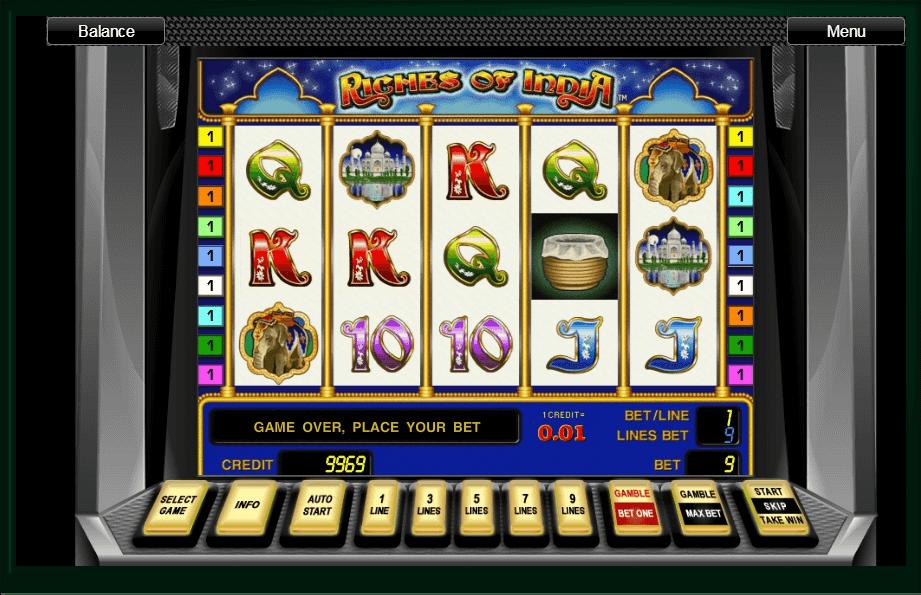 Riches of India slot machine screenshot