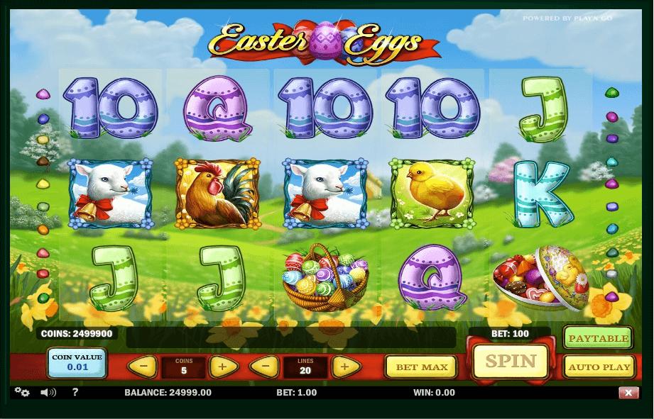 Easter Eggs slot machine screenshot