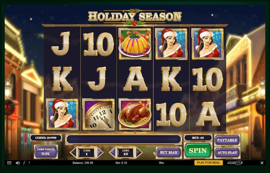 Holiday Season slot machine screenshot