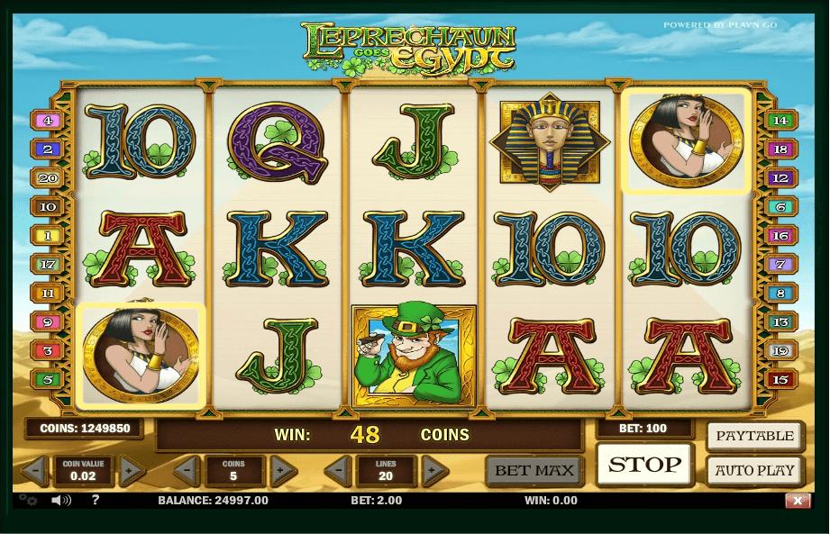 Leprechaun goes Egypt slot play free