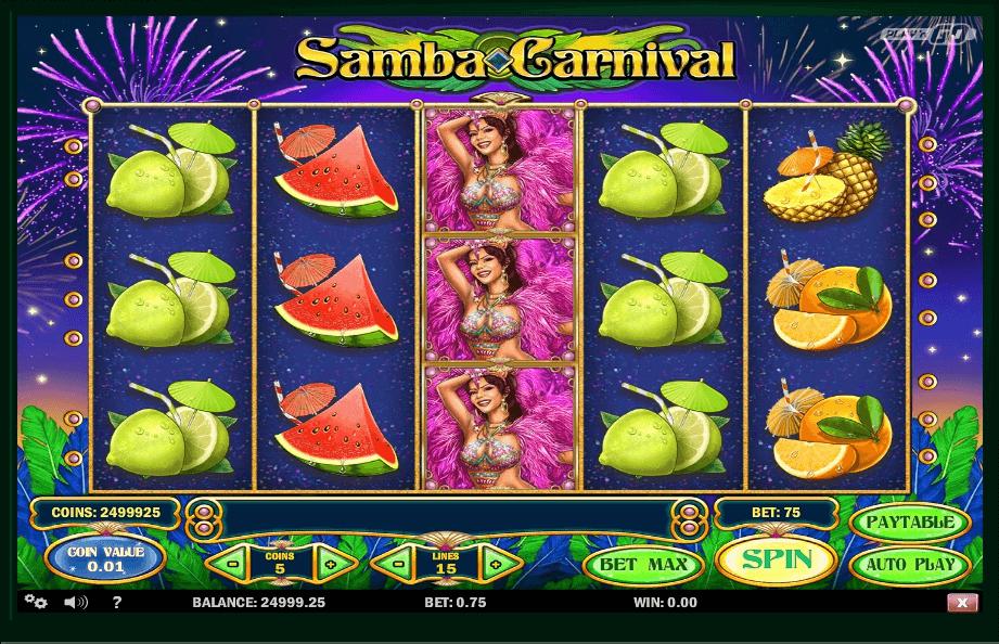 Samba Carnival slot machine screenshot