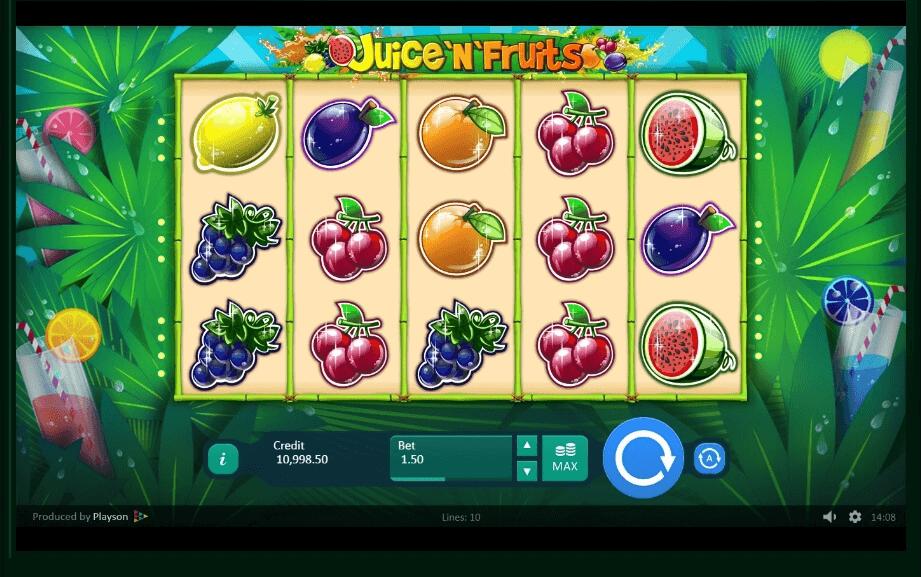 Juice and Fruits slot machine screenshot