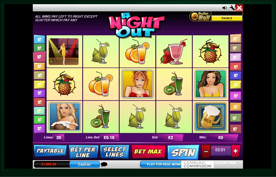 A Girls Night Out slot machine screenshot