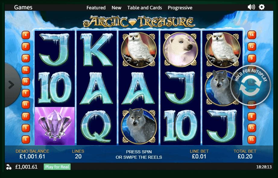 Arctic Treasure slot machine screenshot