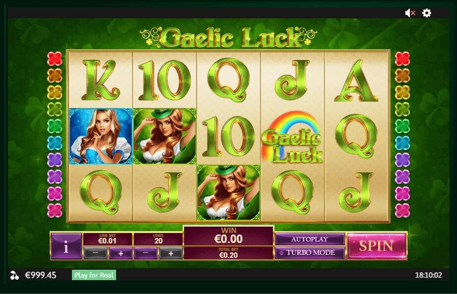 Gaelic Luck slot machine screenshot