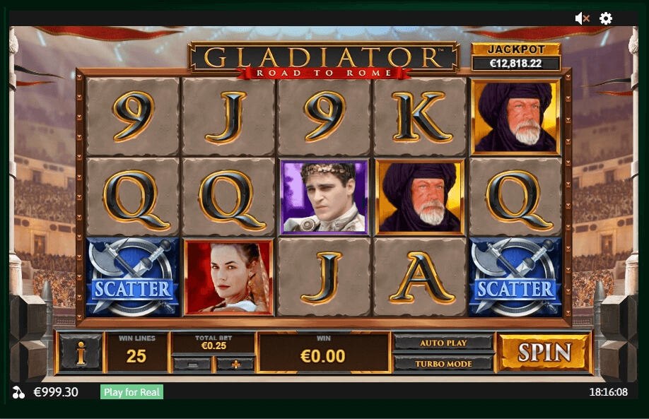 Gladiator Road to Rome slot machine screenshot