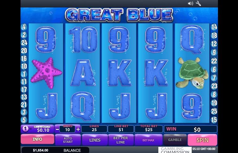Great Blue slot machine screenshot