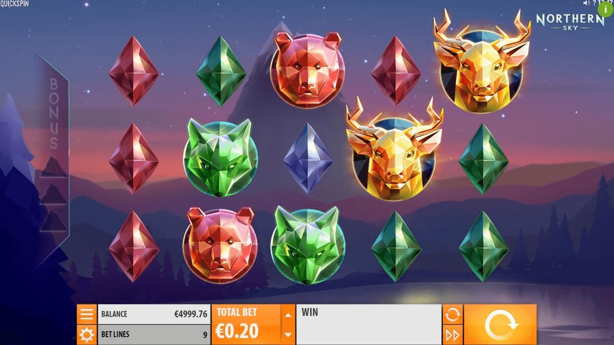 Northern Sky slot machine screenshot