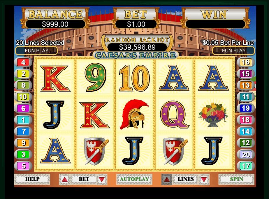 Caesars Empire slot machine screenshot