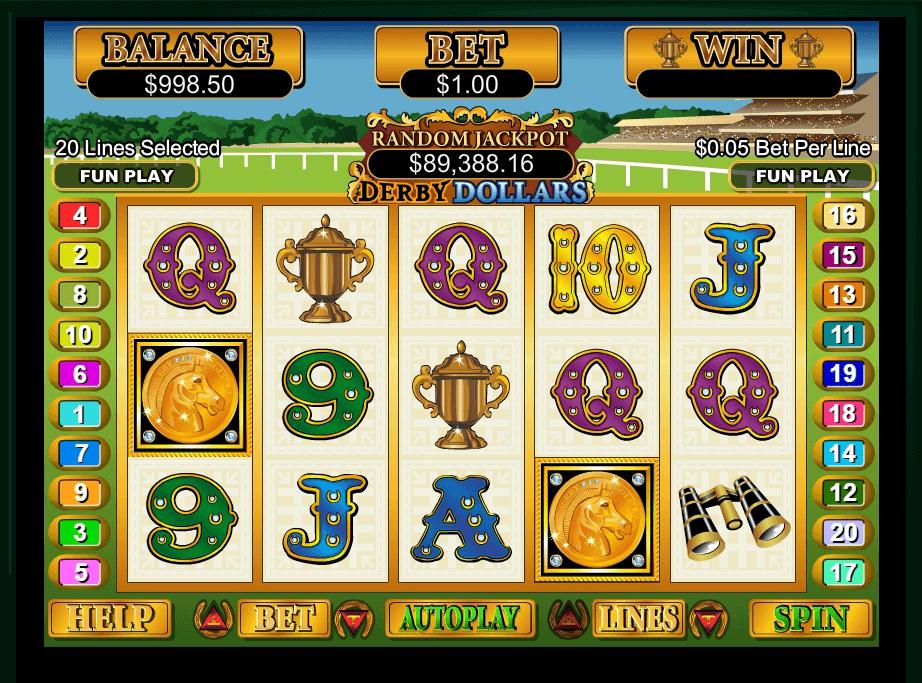 Derby Dollars slot machine screenshot