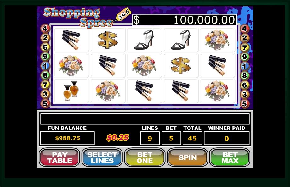 Shopping Spree slot machine screenshot