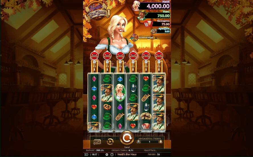 Heidis Bier Haus slot machine screenshot