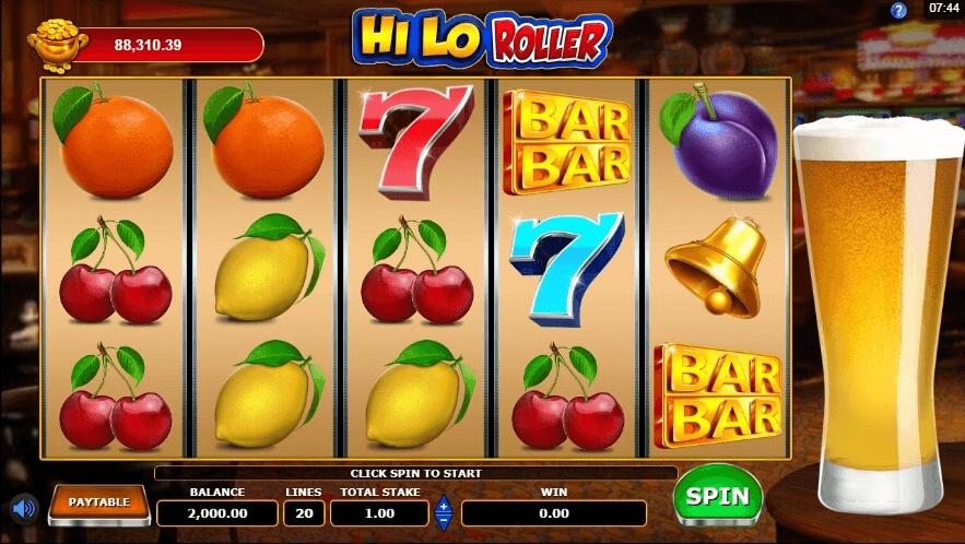 Hi Lo Roller slot machine screenshot